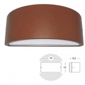 Applique Mezza Luna Chiusa Art. 474/36 Grigio/Alluminio/Corten