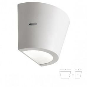 Applique Conico con Emissioni Superiore e Inferiore Art. 414/02 Bianco/Grigio/Alluminio