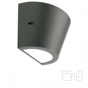 Applique Conico con Emissioni Superiore e Inferiore Art. 414/16 Bianco/Grigio/Alluminio