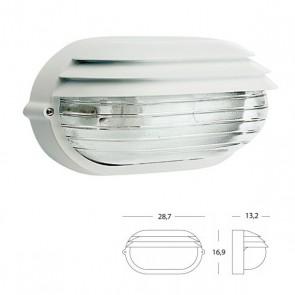 Applique Ovale Grande e in Basso Art. 788/02 Bianco