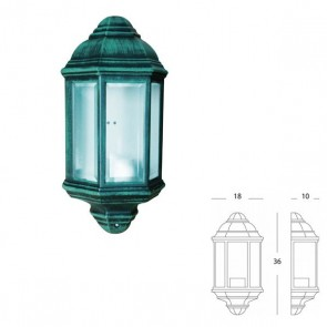 Applique Mezza Lanterna Art. 976/32 Nero/Verde