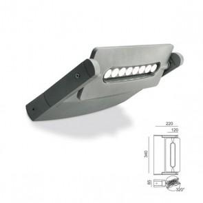 Applique una luce con led Art. 99604/72 Alluminio