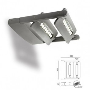 Applique due luci a led Art. 99605/72 Alluminio
