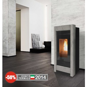 Stufa a Pellet ARIA Canalizzabile THERMOROSSI Aromy PLUS Metalcolor o Stone 11kw