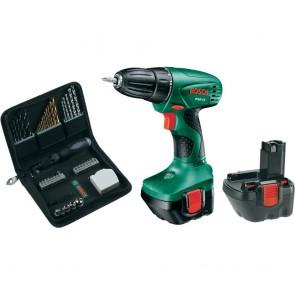 Trapano Avvitatore a batteria Bosch PSR 12 Hobby batteria e valigetta + set 46 pezzi