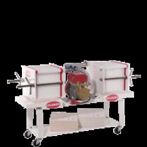 Pompa con filtro enologico ROVER COLOMBO 36 a piastre e cartoni per filtrare vino succhi infusi spremute birra 50 cartoni OMAGGIO