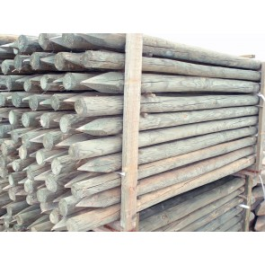 Palo di legno pino 4/6 x200 scortecciati per steccati recinzioni