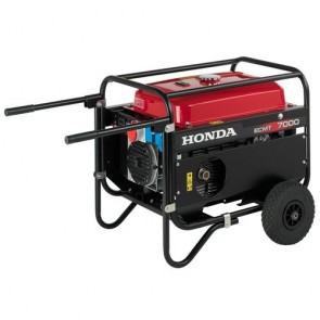 Generatore Honda ECMT 7000T GV IT PROFESSIONALE Mono / Trifase - Avviamento manuale - Carrello a 2 ruote