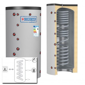 Cordivari Termoaccumulatore ECO COMBI 1 VC 500 a 2000 MORBIDA scambiatore corrugato acciaio inox