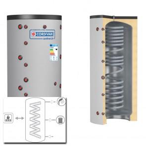 Cordivari Termoaccumulatore  ECO COMBI 2 DOMUS VB 200 a 300 RIGIDA scambiatore corrugato acciaio inox 1 scambiatore fisso
