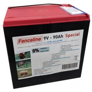 Batteria per Recinzioni MILKLINE FENCELINE 9V 90AH a secco