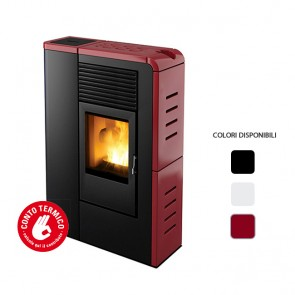 Stufa a Pellet ad Aria MCZ FLAT Comfort Air 8 kW Canalizzabile