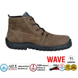 Scarpe Antinfortunistiche Cofra IBIZA BROWN S3 SRC linea WAVE