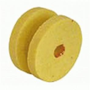 Coppia di mole per affilatrice multifunzione colore giallo diametro 45 mm