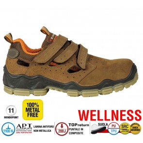 Scarpa Antinfortunistica Cofra WELLNESS MONDRIAN BROWN S1 P SRC WELLNESS