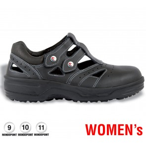 Scarpe antinfortunistiche Cofra MONIQUE BLACK S1 SRC taglie dal 35 al 42  Linea WOMEN'S