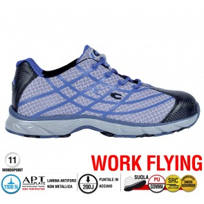 Scarpe antinfortunistiche Cofra NEW ALIEN GREY S1 P SRC taglie dal 36 al 47  Linea WORK FLYING