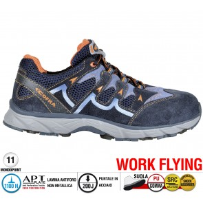 Scarpe antinfortunistiche Cofra NEW BLADE BLUE S1 P SRC taglie dal 36 al 47  Linea WORK FLYING