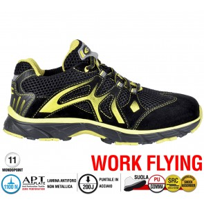 Scarpa Sportive Antinfortunistica Cofra NEW DOGVILLE BLACK S1 P SRC WORK FLYING