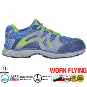 Scarpa Sportive Antinfortunistica Cofra NEW DOGVILLE BLUE S1 P SRC WORK FLYING