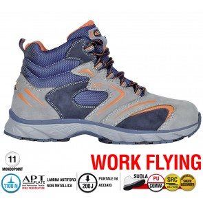 Scarpa Sportive Antinfortunistica Cofra NEW FITNESS GREY S3 SRC WORK FLYING