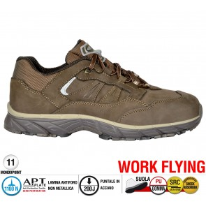 Scarpe antinfortunistiche Cofra NEW GHOST BROWN S3 SRC taglie dal 36 al 47  Linea WORK FLYING