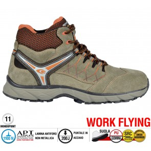 Scarpe antinfortunistiche Cofra NEW MISSION S1 P SRC taglie dal 40 al 47  Linea WORK FLYING
