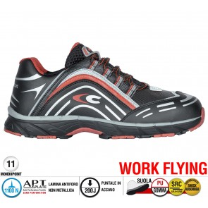 Scarpe antinfortunistiche Cofra NEW PREDATOR BLACK S3 SRC taglie dal 39 al 47  Linea WORK FLYING