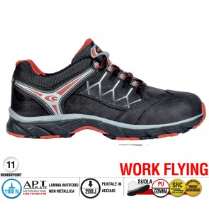 Scarpe antinfortunistiche Cofra NEW RED EYE BROWN S3 SRC taglie dal 36 al 47  Linea WORK FLYING