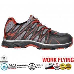 Scarpe antinfortunistiche Cofra NEW SAMURAI BLACK S1 P SRC taglie dal 36 al 47  Linea WORK FLYING