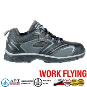 Scarpe antinfortunistiche Cofra NEW SQUASH BLACK S3 SRC taglie dal 40 al 47  Linea WORK FLYING