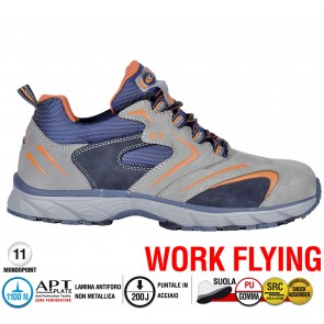 Scarpe antinfortunistiche Cofra NEW SQUASH GREY S3 SRC taglie dal 38 al 47  Linea WORK FLYING