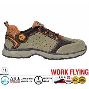 Scarpe antinfortunistiche Cofra NEW TWISTER BEIGE S1 P SRC taglie dal 36 al 47  Linea WORK FLYING