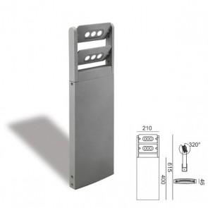 Palo due luci a led Art. 99603/72 Alluminio h.615