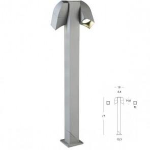 Paletto 2 Luci Art. 470/72 Alluminio h.77