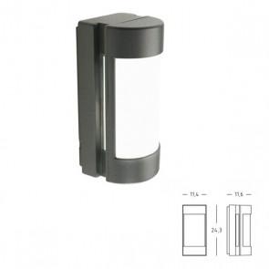 Applique/Plafoniera con Apertura Laterale Art. 413/16 Grigio/Alluminio