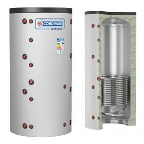 Termoaccumulatore Cordivari PUFFER 1 VT VC 800 a 5000 litri acqua di riscaldamento 1 scambiatore fisso