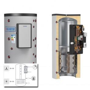 Cordivari Termoaccumulatore PUFFERMAS 2 CTS VB potenza 120-70kW 500 a 1500 RIGIDO modulo MAC  per ACS e 1 scambiatore fisso