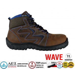 Scarpe Antinfortunistiche Cofra SIROCCO BROWN S3 SRC linea WAVE