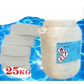 Tricloro per piscine 90/200 90% pastiglie Kg 25