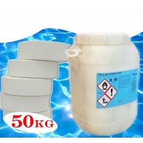 Tricloro per piscine 90/200 90% pastiglie Kg 50