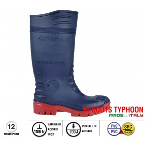Stivale antinfortunistico Cofra TYPHOON BLUE/RED S5 SRC taglie dal 36 al 48  Linea NI-BOOTS TYPHOO
