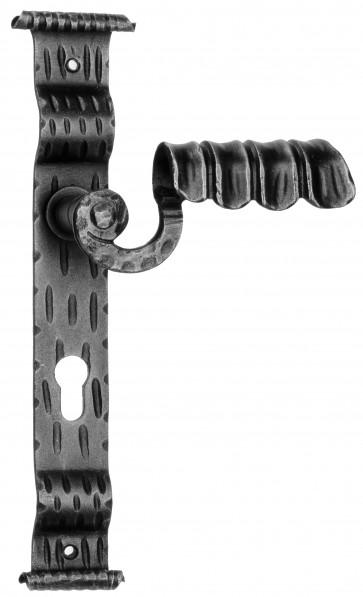 Maniglia Rustica per Porta in ferro battuto Galbusera Art.1072 Nero Antico