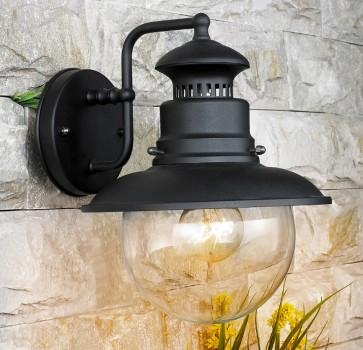 Lanterna da giardino MARINA globo in acciaio lampada 60w
