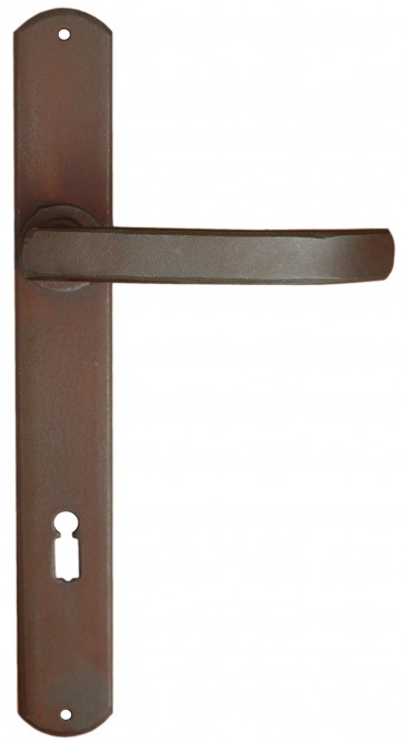 Maniglia Classica per Porta in ferro battuto Galbusera Art.1810 Ant. Ruggine