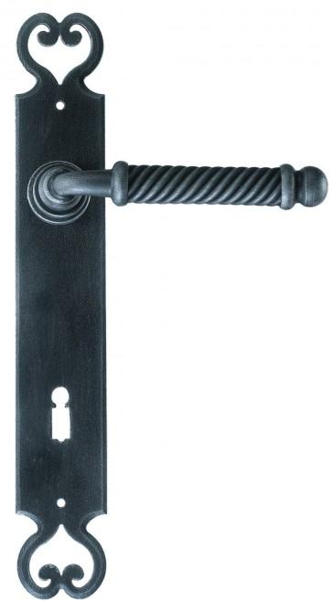 Maniglia Classica per Porta in ferro battuto Galbusera Art.2100 Nero Antico