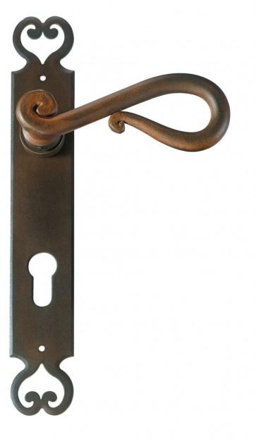 Maniglia Classica per Porta in ferro battuto Galbusera Art.2200 antichizzata ruggine