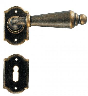 Maniglia Classica per Porta in ferro battuto Galbusera Art.2401 Bronzato