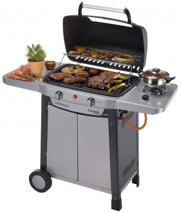 Barbecue a GAS TEXADO DE LUXE in acciaio piano 56x34,5