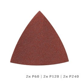 Carta abrasiva DREMEL® Multi-Max per legno (P60, P120 e P240) (MM70W)